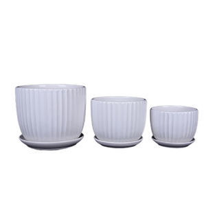 Home   Garden White Marble Grain Ceramic Cylinder Flowerpot Wholesale