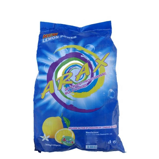 Top quality color speckles fresh lemon perfume low density laundry soap powder