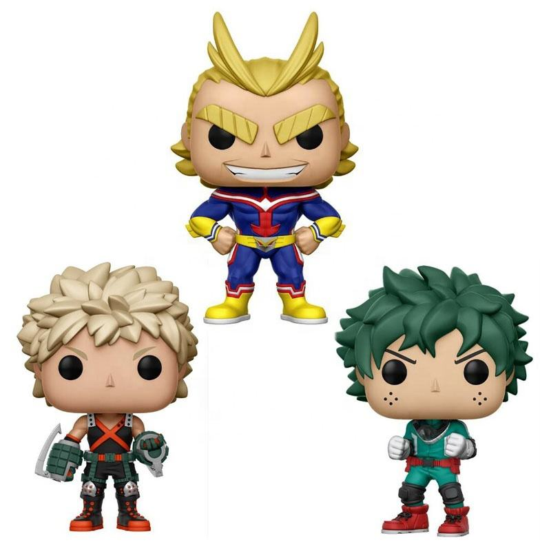 Funk Pop Anime My Hero Academia Character Deku & Katsuki & All Might & TODOROKI Cute Vinyl Figure Collection Model Toys