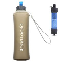 Mini water filter bottle 2020 trend product fashion logo custom BPA Free Sports outdoor portable 300Ml  Water Purifier System