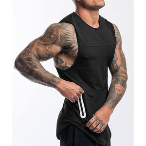 Wholesale New design mens gym wear fitness clothing fast drying training vest mens tank top