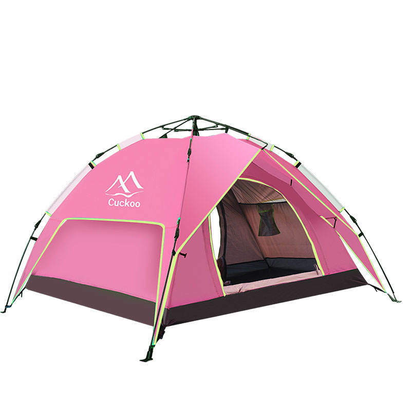 Quick Automatic Opening Tent Automatic Camping Tent Cuckoo Outdoor Camping Thickened 3-4 Automatic Speed Open Tent 2 People Camping In The Countryside Leisure Simple Tent