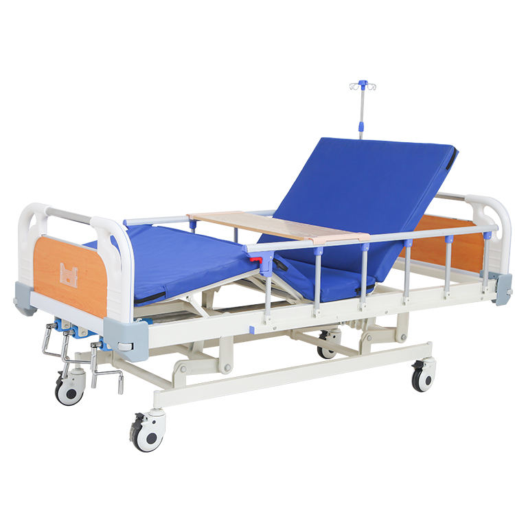 Factory Wholesale Abs 3 Cranks Manual Adult Multi-function Medical Bed Elderly Patient Hospital Bed