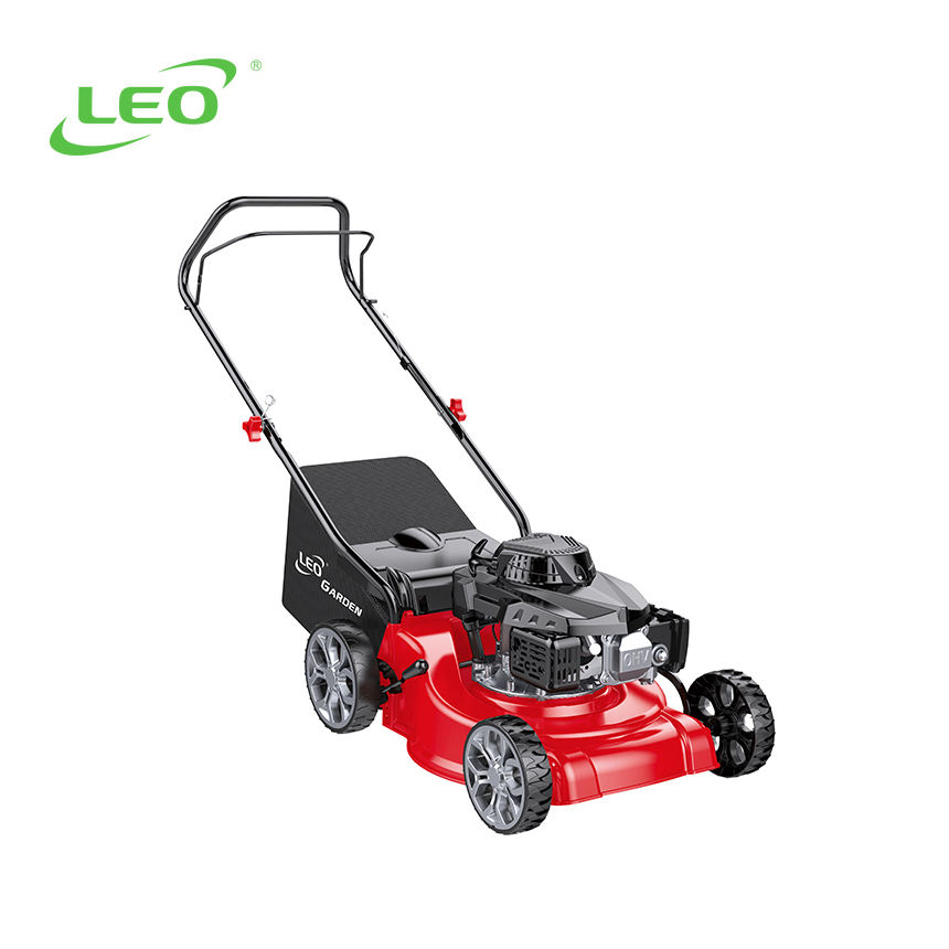 LEO LM40-E China supplier best price Cordless Hand Push mini gasoline lawn mower Suitable for garden