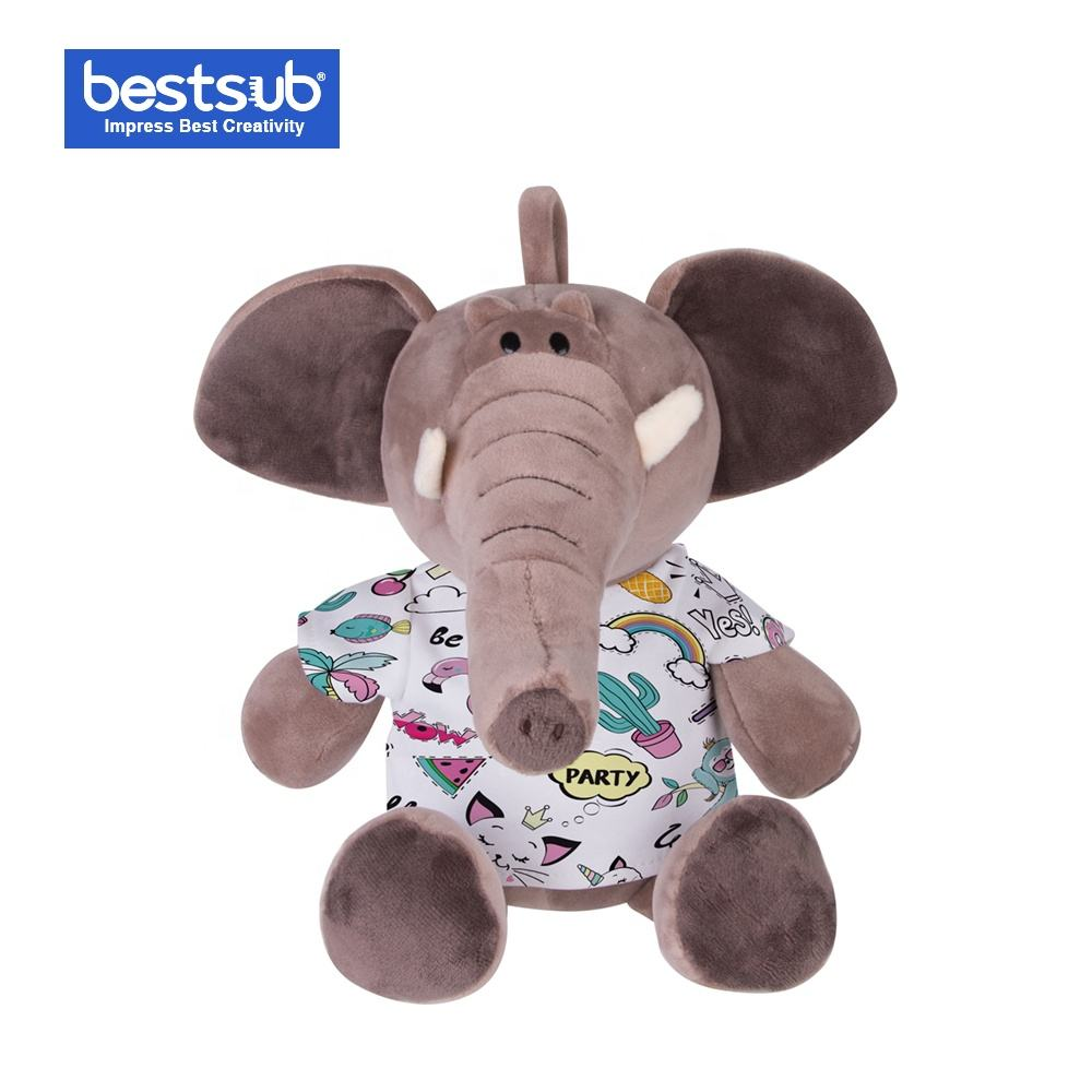 Customized 22cm Wholesale Luxury Dark Brown Plush Toy Elephant EPH22-DB