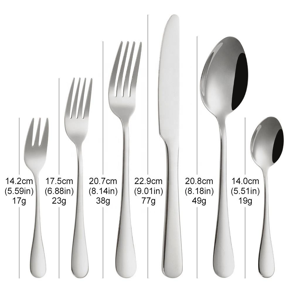 Tander Stainless Steel Home Goods Flatware Metal Inox Cutlery Set