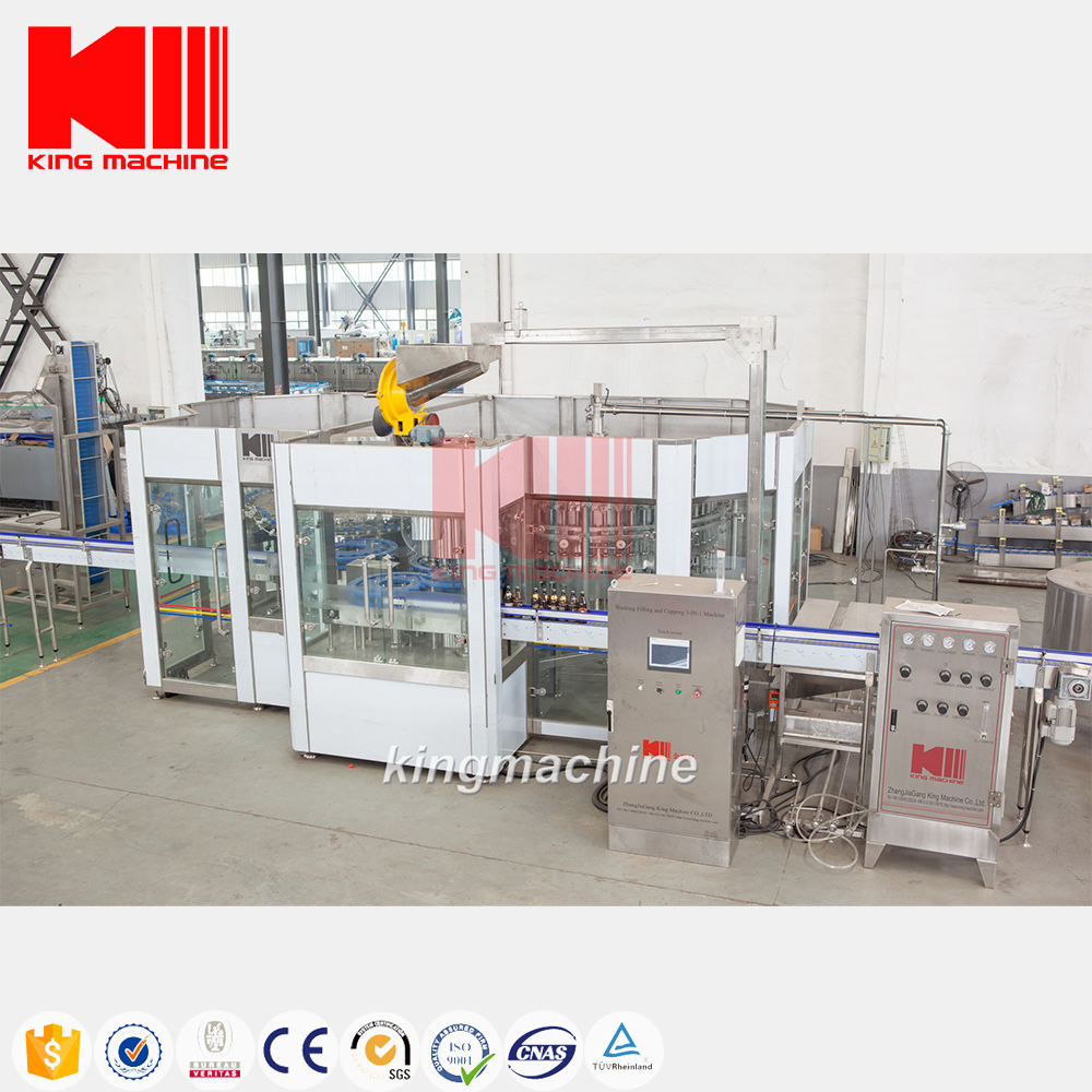 King Machine glass bottle 250 ml purified mineral pure water filling machine