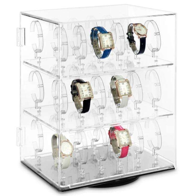 custom made Acrylic collar watch display showcase wholesale
