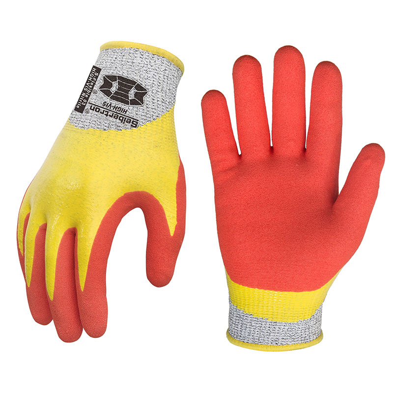 Seibertron EN388 level 5 Cut Resistant Oilproof and Waterproof Sandy Nitrile Coated Gloves