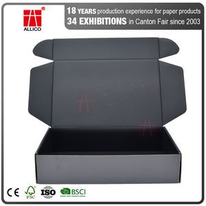 ALLICO Luxury Cardboard Corrugated Mailing Mailer Shipping Box With Carton Packaging Boxes For Clothes