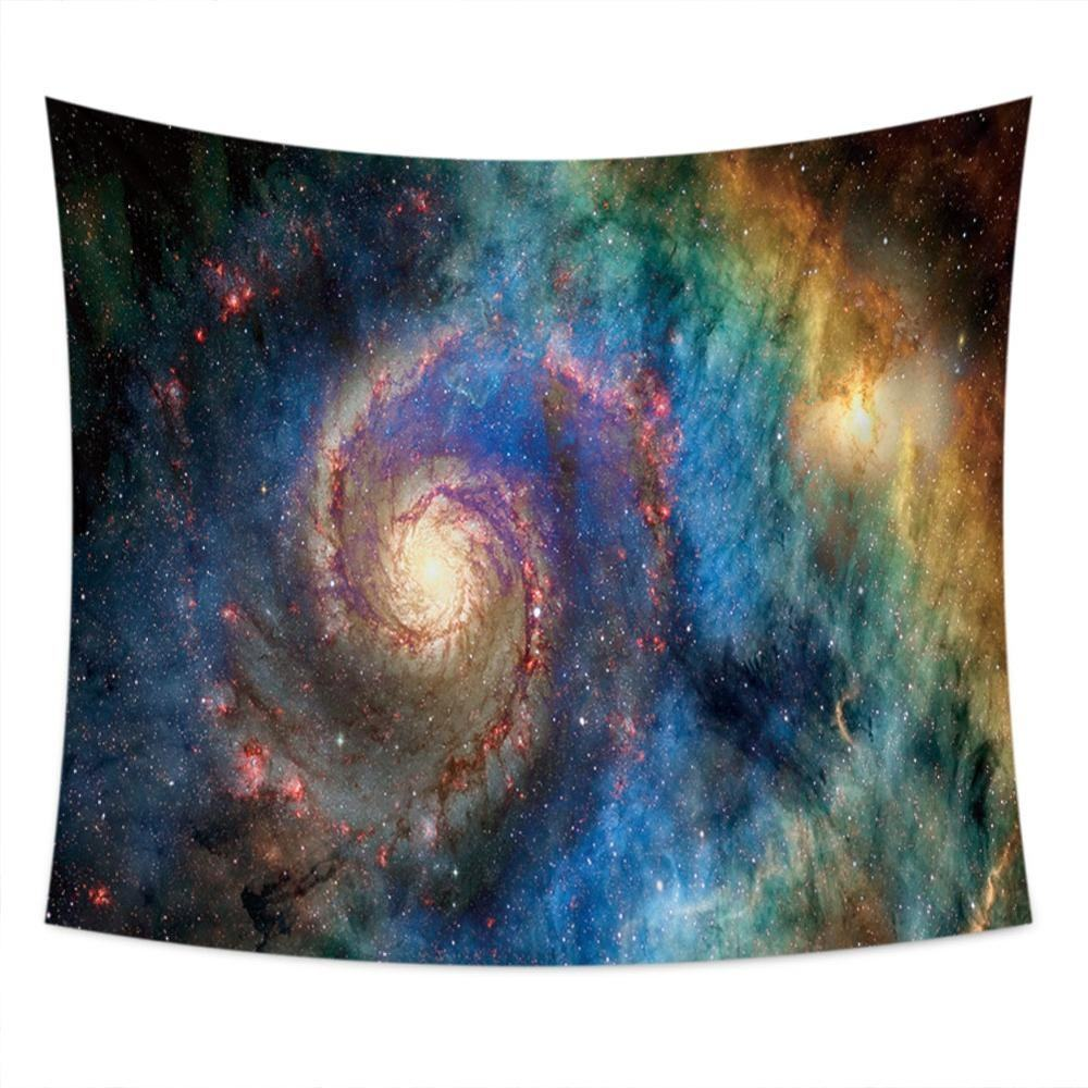 custom made colorful starry sky space psychedelic galaxy tapestry for wall decoration