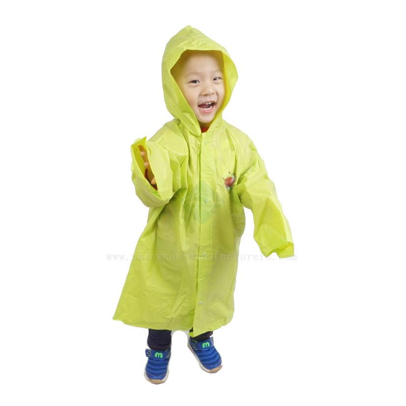 KIDS BOYS GIRLS BIODEGRADABLE RAIN JACKET HOODED JUNIOR CLEAR RAIN MAC OUTERWEAR
