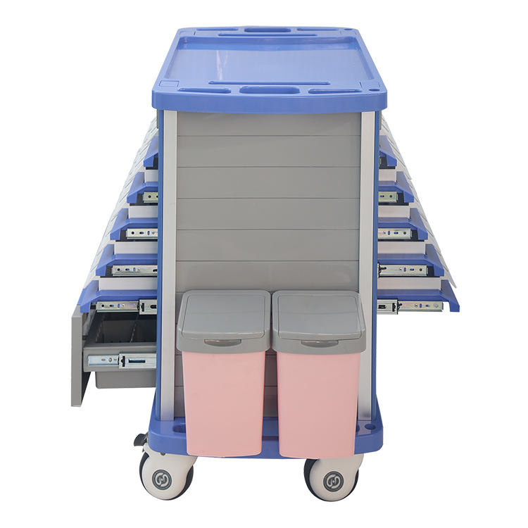 MKR-MT8502 Hospital ABS material movable medicine trolley cart Factory Price
