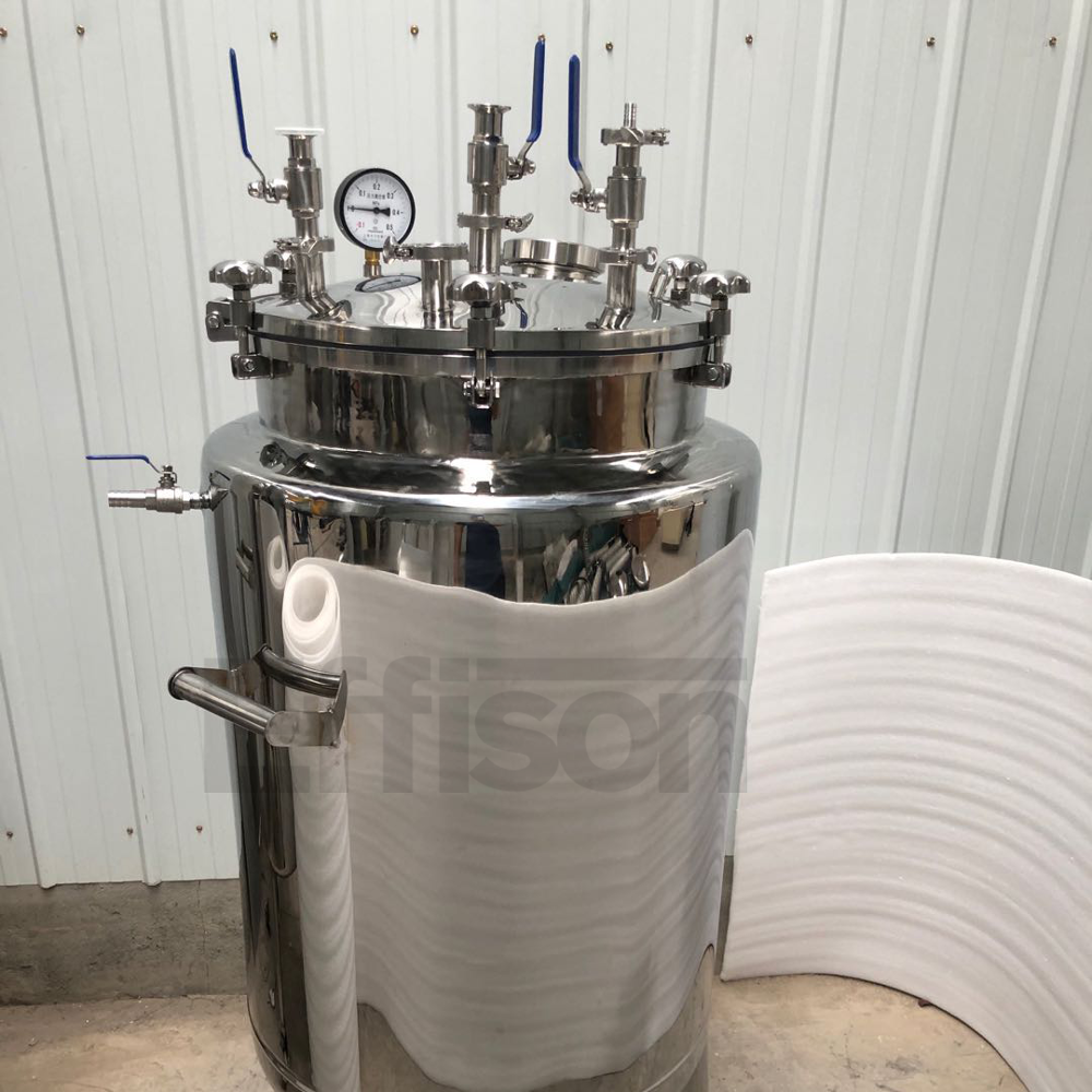 Hemp Extraction Machine Ethanol Stainless Steel Jacketed Extraction Vessel with chiller