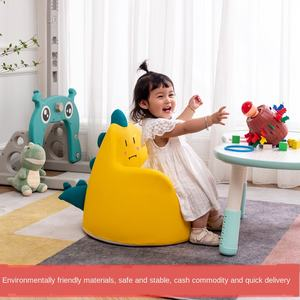 AliGan Cartoon Animal Children's Sofa Plush Toy Sitting Posture Early Education Small Birthday Gift Kids Couch Used In Homes Kin