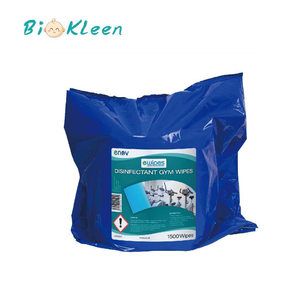 Biokleen Ice Bucket Gym Wipes, Gym Wipes Dispenser Floor Stainless Steel