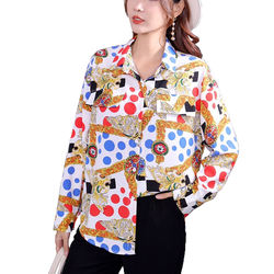YOMING YM013 Spring Long Sleeve Blouses Women Casual Tops Sh