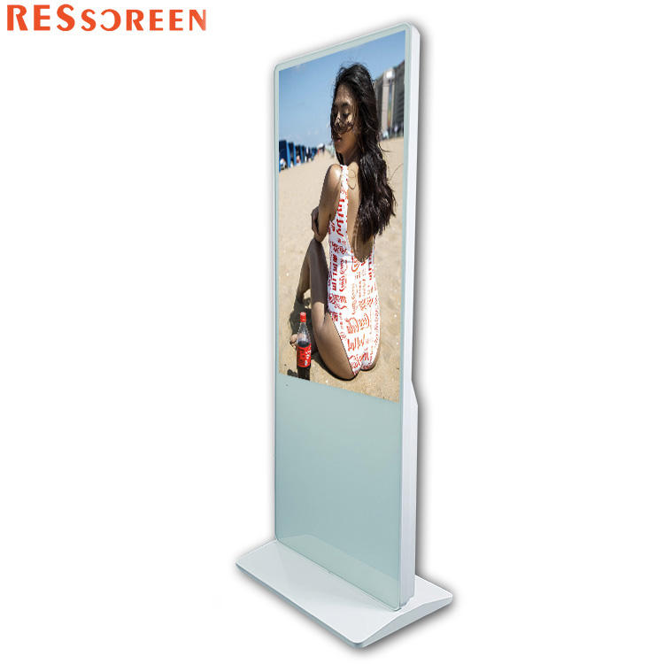 43 49 55 65 75 86 inch floor stand 4k wifi freestanding touch screen digital signage