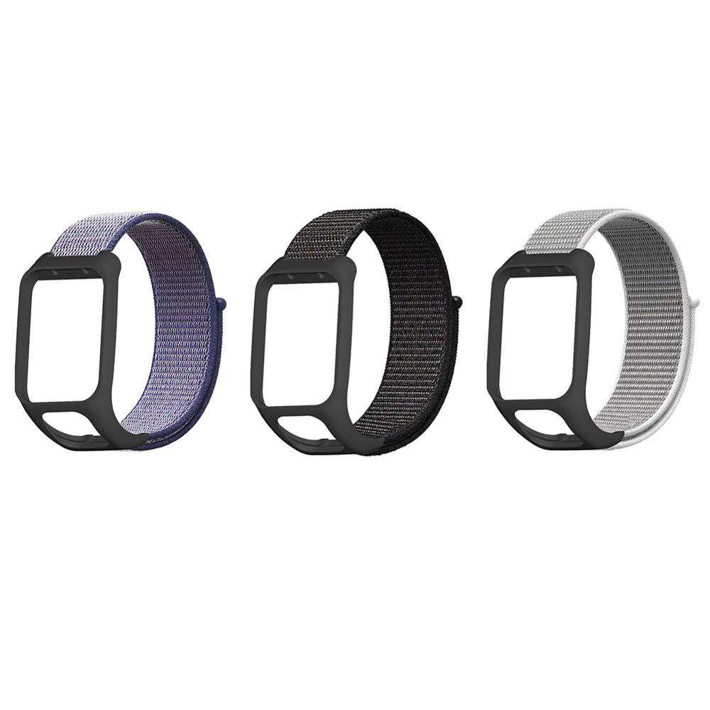 Vervanging Watch Band Nylon Canvas Horloge Band voor TOMTOM Runner3 & TOMTOM Adventurer voor Man Vrouw