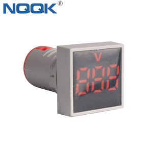 Ce AD16 22 Mm Vierkante Blauwe Lampje Lamp Voltage Meter Ac Digitale Panel Voltmeter