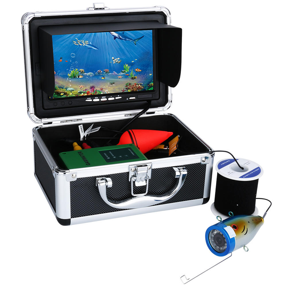 "Fish Finder 7"" Inch 1000tvl Underwater Fishing Video Camera Kit 12 PCS LED Infrared Lamp Lights Video Lake Under Water fish cam"