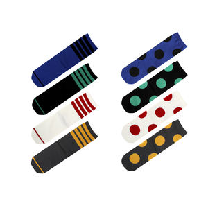 MEIKAN Factory Summer 8 Style Fashion Knitted Crew Cotton Stripes Dot Custom Cute Women Socks