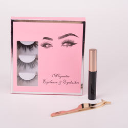 create your own logo private label magnetic eyelashes charming magnetic eyeliner with box