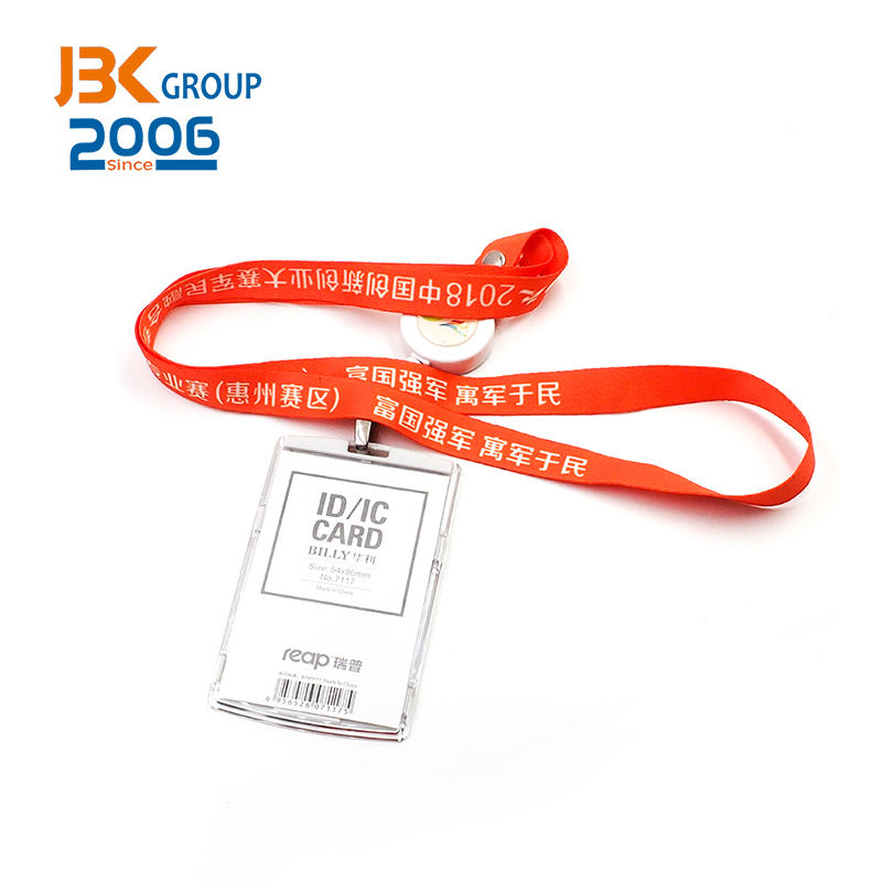 Wholesale custom id card neck strap Sublimation printed car lanyard for car exhibition staff