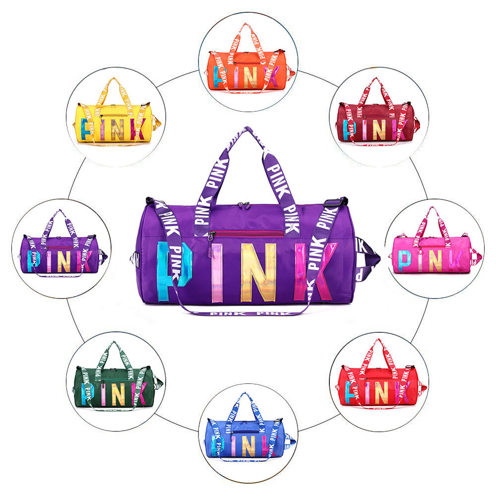 2020 New Design Sequins Sports Bag Unisex Custom Logo Printing Travel Sports Duffel Gym Bag For Women
