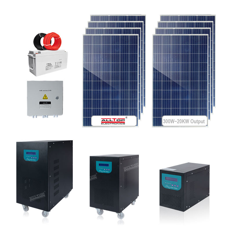 ALLTOP Solar panel power inverter charge kit 5kw 6kw 8kw for my home complete solar power system