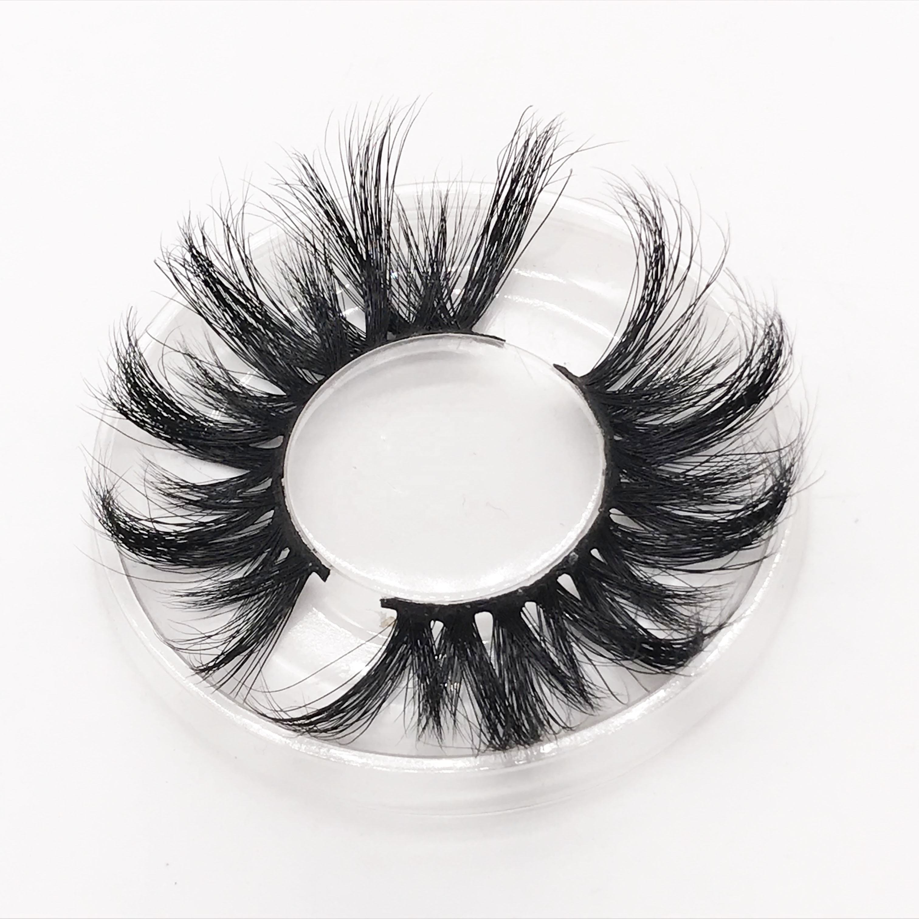 Top quality new Style private label eyelashes cruelty free 45A 25mm 3d mink eyelashes with custom packaging
