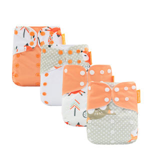 Happy flute one size fit all washable pocket cloth baby diapers factory wholesale