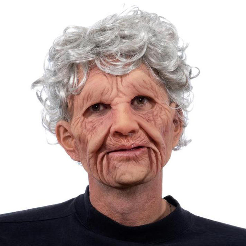 Halloween old man mask male human silicone latex mask for sale F296-1