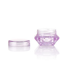 Luxury plastic cosmetics jar shape plastic jars for cream