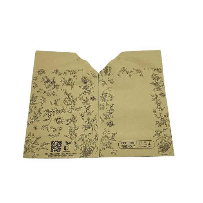 Customized Biodegradable Paper Spouted Pouch / Brown Kraft Paper Liquid Drink Packaging Spout Bag For Beverage packing