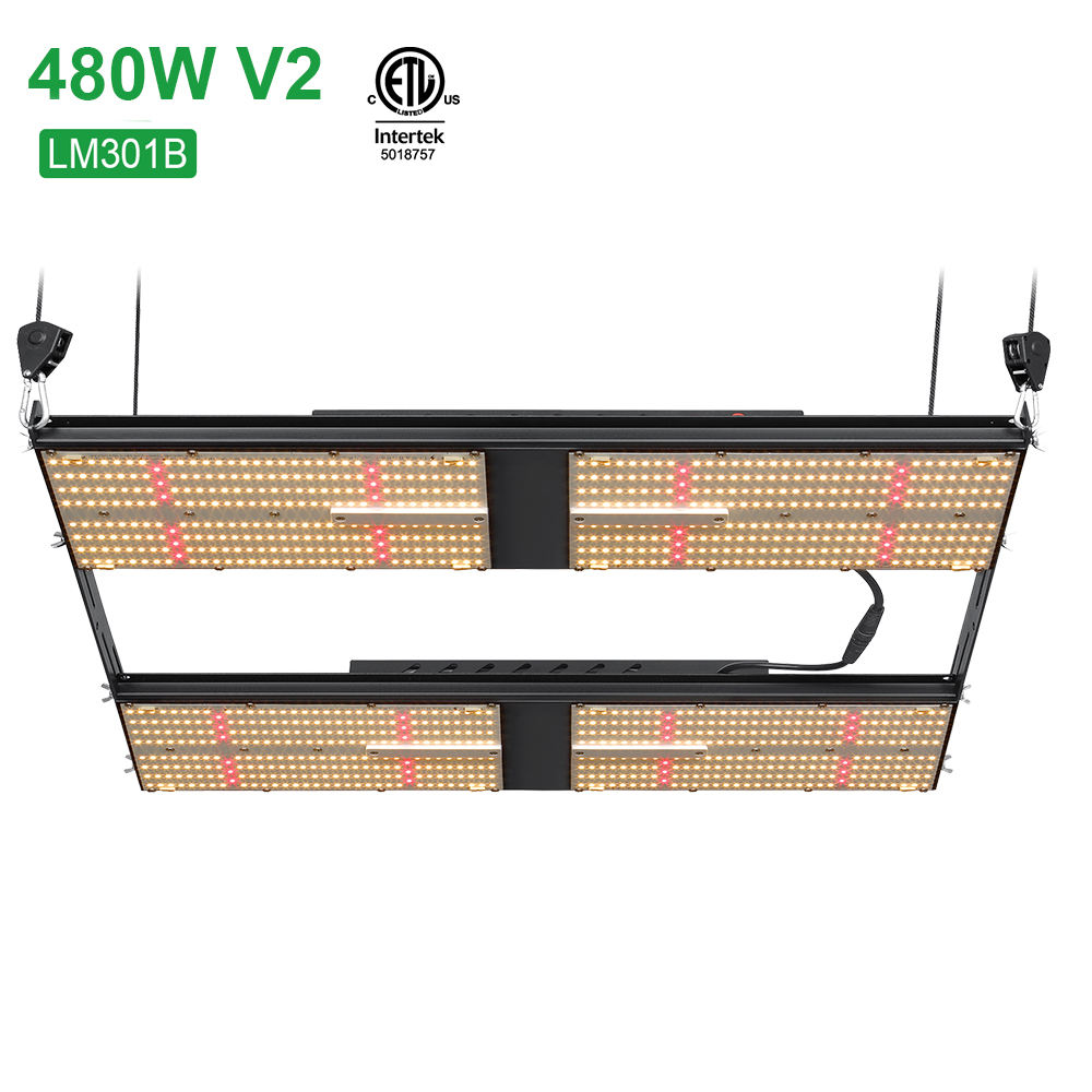 BAVA 480w supplemental 4000k smart control oslon bloom plus 660nm red led samsung lm301b grow light for plant growth