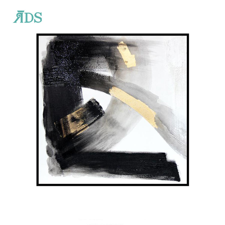 Wholesale home decorative modern framed abstract wall art painting