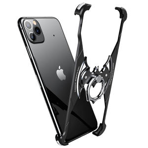 New 360 Degree Rotation Bat Ring Holder Aluminum Metal Phone Case Frame Bumper Cover For iPhone 11 Pro