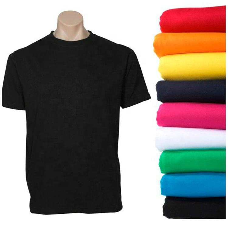 Custom Printing Advertising Logo Breathable Cotton Plain Blank T Shirts For Men