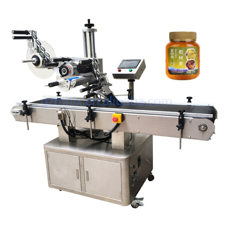 PLC control digital rubber two sides sticker bopp flexo labelling machine for flat surface