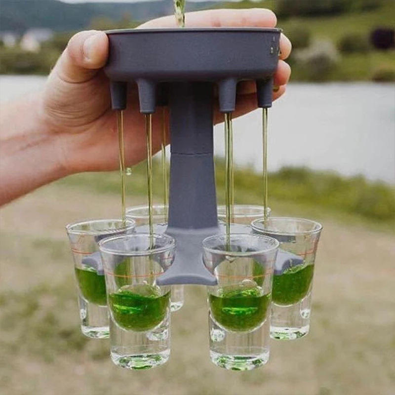 Shot Glass Dispenser Filling Liquids 6 Shot Glass Dispenser Holder Wine Bar Cocktail Shot Dispenser For Party Drinking Games
