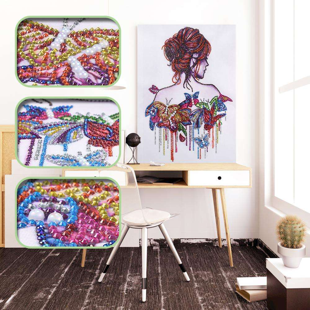 New Portrait Pattern Special Shaped Drill Beauty Girl Painting Diamond Embroidery Kit for Home Decoration 5D Diamond Painting