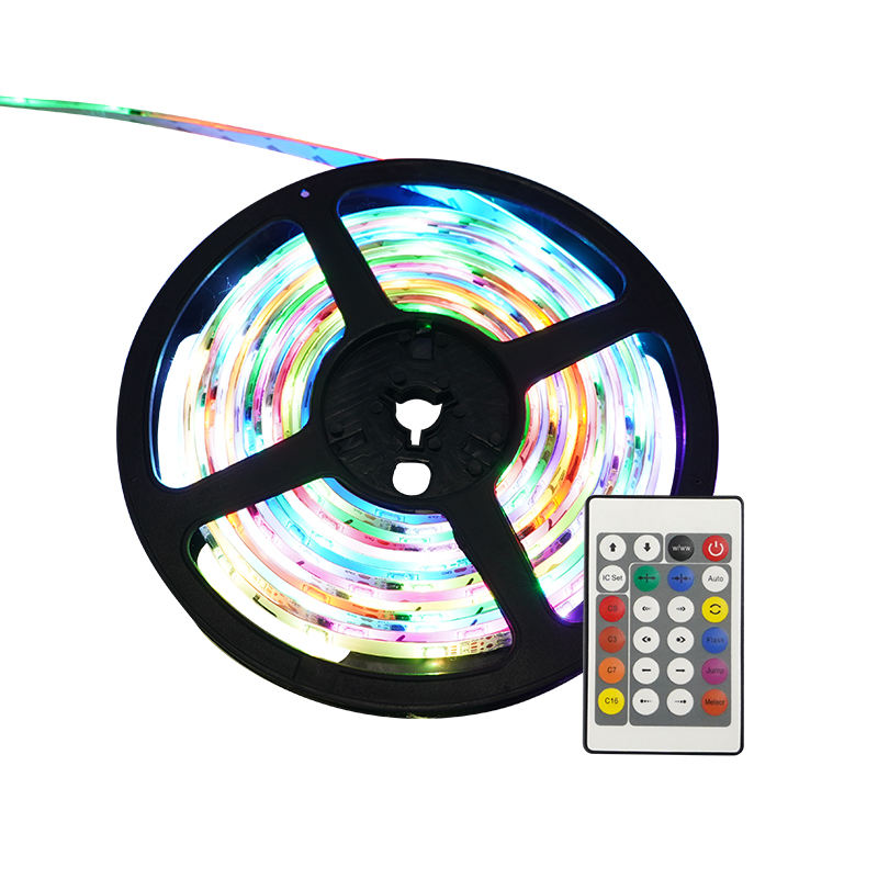 Sample available waterproof digital+RGB led strip 5050 rgb 5 meters led strip lights remote control for party christmas