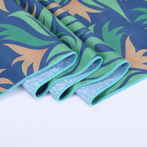 Non slip New Design Fitness Microfiber Absorbent Fabric Printed Customized Yoga Mat Towel