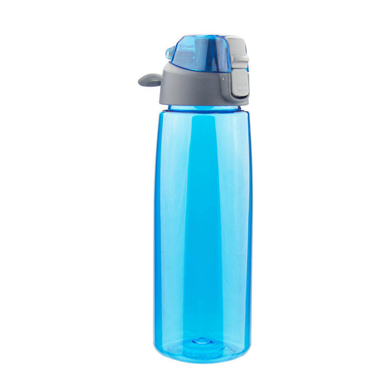 Bpa free custom sport gym portable drinking clear cheap PET Promotional style plastic tritan bpa free water bottle with lock lid