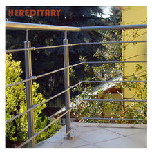 Outdoor Stair Rail Price / Exterior Balcony Stainless Steel Pipe Railing Baluster / Outdoor Metal Stair Railing