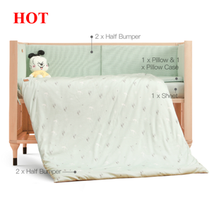 2020 printed soft multi size 100% cotton bumper liner comforter bed cover baby crib bedding set