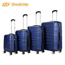 4pcs set Abs travel suitcase  sets 360 degree trolley  suitcase hard shell luggage bag 24 inch