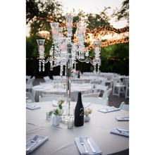 MH-1474 9 arms crystal centerpieces for wedding decoration crystal candlestick