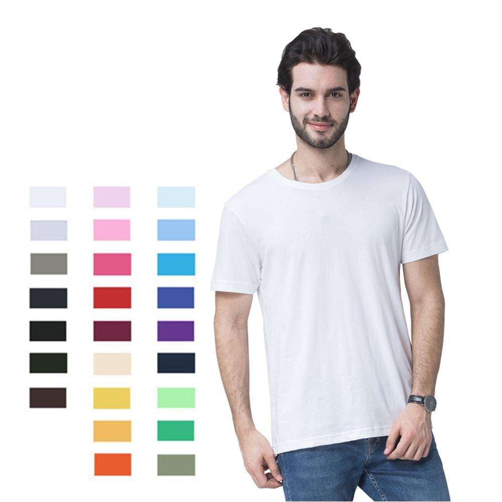 Wholesale short sleeve eco friendly man cotton custom t shirt with no brand